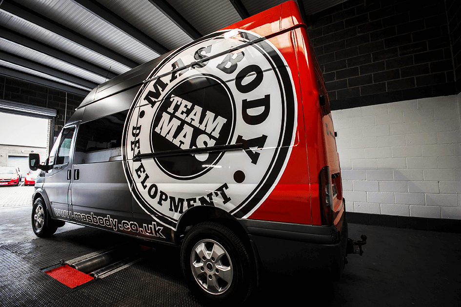 Team Mass Body Van and Logo