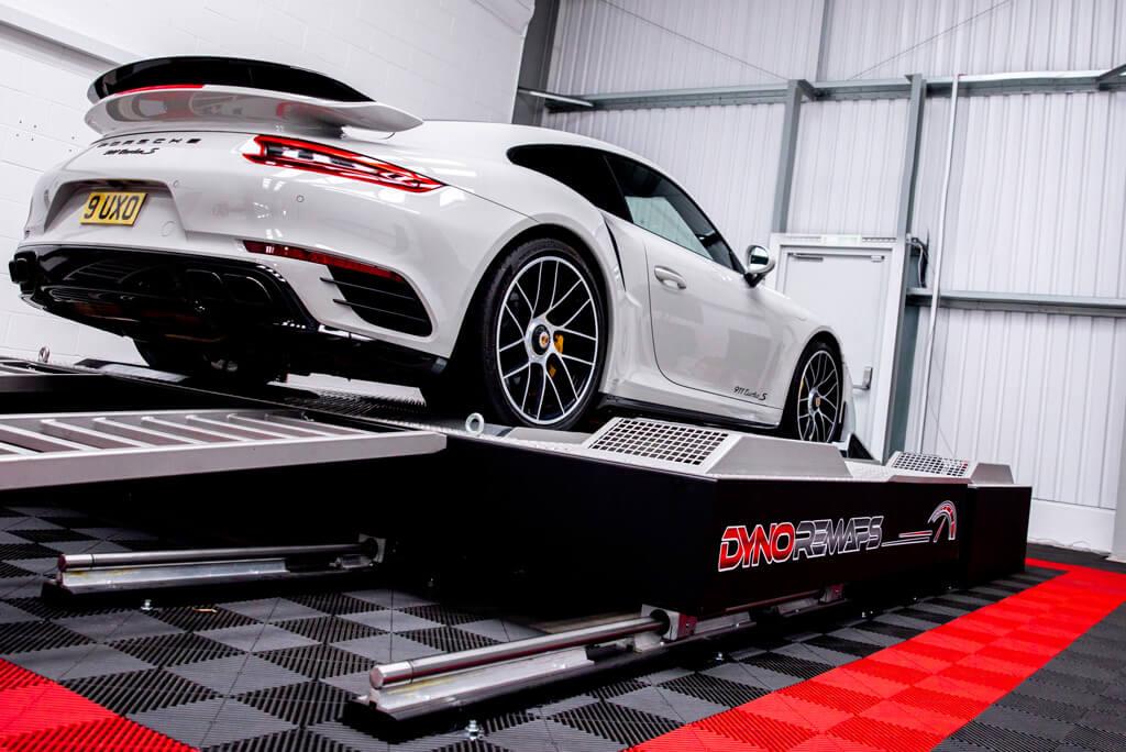 Rear shot of Porsche 911 Turbo S