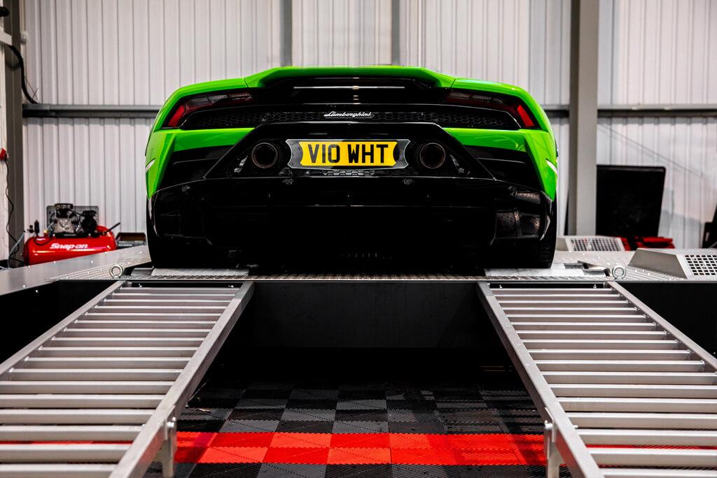 Rear of Lamborghini